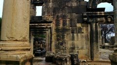 Panorama of ancient Bar'am building Stock Footage