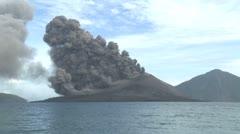 Pyroclastic Flow Sweeps Down Anak Krakatau Volcano - stock footage