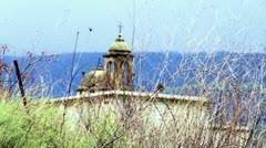 An old Christian church near Banias Stock Footage