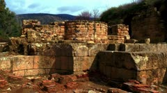 panorama of Agrippa Palace ruins - stock footage