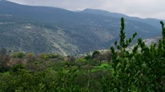 Panorama of Nimrod Fortress on a hill Stock Footage