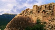 A Nimrod Fortress wall Stock Footage