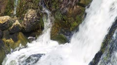 The bottom of a waterfall Stock Footage
