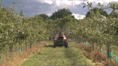 Stock Video Footage of spraying pesticides zoomed in front view