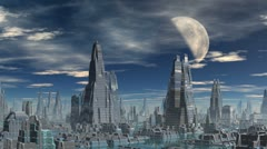 City of aliens - stock footage
