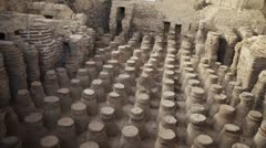 Beit She'an bathhouse ruins Stock Footage