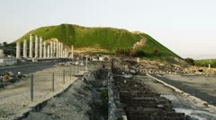 A green hill at Beit She'an Stock Footage