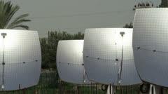 Panorama of solar panels Stock Footage
