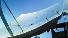Solar panel dishes Stock Footage