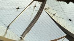 Solar panel mirrors Stock Footage