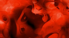 Red cells and blood,ripple in flow viscous liquid,abstract red circle curve bac Stock Footage