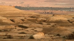 A desert landscape at dusk Stock Footage