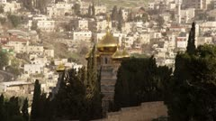 The Church of Maria Magdalene filmed in Israel at 4k with Red. Stock Footage