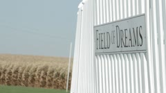 Stock Footage - Field of Dreams - Fence and sign - Corn field Stock Footage