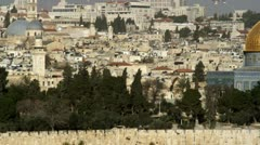 Panorama of the Dome Of The Rock filmed in Israel at 4k with Red. Stock Footage