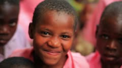 Other Kids smiling into the camera in Kenya. Stock Footage