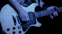 Guitar, bass guitar, drum Sequence - rock concert Stock Footage