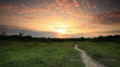Sunrise near a village in Kenya. Stock Footage