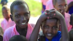 Children playing in Africa. Stock Footage
