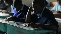 Students working in class in Kenya. Stock Footage