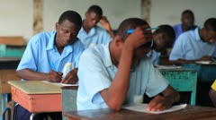 Students doing classwork in Kenya. Stock Footage
