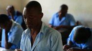 Boy student at school in Kenya. Stock Footage