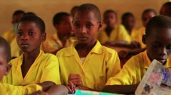 School boys in a classroom in a school in Kenya. - stock footage