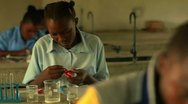 Stock Video Footage of Students doing chemistry in Kenya.