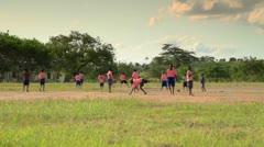 Boys playing during recess near a Kenyan village. Stock Footage