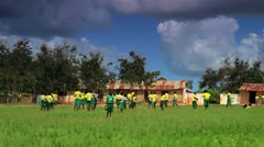 Boys playing at school in a village in Kenya. Stock Footage