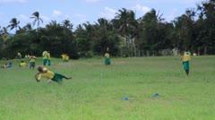 Boys playing at school in Kenya. Stock Footage