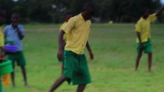 African Boys playing between class in a village in Kenya. Stock Footage