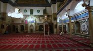 Stock Video Footage of The prayer hall at Jezzar Pasha Mosque in Israel.