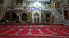 The front interior of Jezzar Pasha Mosque in Israel. Stock Footage