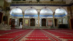 Interior arches at Jezzar Pasha Mosque in Israel. Stock Footage
