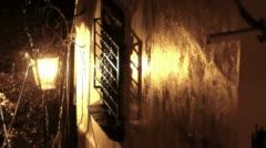 Rain over Lantern Stock Footage