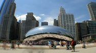 Stock Video Footage of Millenium Park Time Lapse