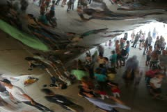 Distorted Crowd Reflection Time Lapse Stock Footage