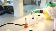 Extract pipettes equipment Stock Footage
