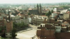 City middle ages market Stock Footage