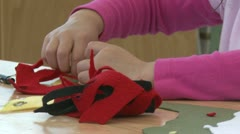 A grammar school student working on arts and crafts  (1 of 2) Stock Footage