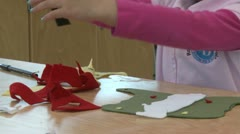 A grammar school student working on arts and crafts  (2 of 2) Stock Footage