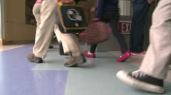 Grammar school students leaving their classroom (2 of 2) Stock Footage