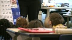Teacher standing in front of grammar school class (4 of 6) - stock footage