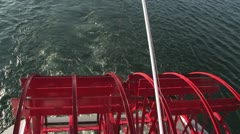 PaddleWheel from Above Stock Footage