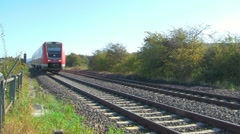 Local train driving by Stock Footage