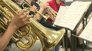 Stock Video Footage of Middle school students practicing in Music Class (2 of 10)