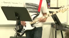 Middle school students practicing in Music Class (1 of 10) Stock Footage