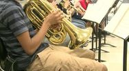 Stock Video Footage of Middle school students practicing in Music Class (8 of 10)