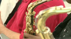 Close up of instruments in music class - stock footage